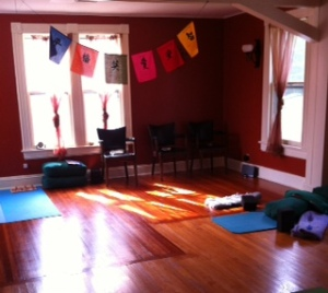 Waiting Area:Yoga space
